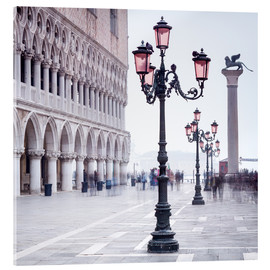 Akrylbillede  St. Mark's Square in Venice in Winter - Jan Christopher Becke