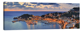 Lærredsbillede  Port Soller Mallorca at night - FineArt Panorama