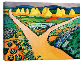 Lærredsbillede  Vegetable Fields - August Macke