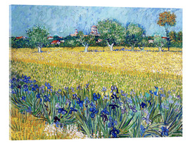 Akrylbillede  View of Arles with Irises in the Foreground - Vincent van Gogh