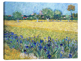 Lærredsbillede  View of Arles with irises in the foreground - Vincent van Gogh