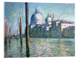 Akrylbillede  The Grand Canal - Claude Monet