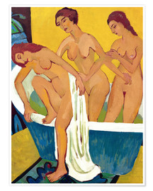 Premium-plakat Bathing women