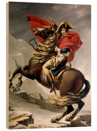 Print på træ  Napoleon crossing the Alps - Jacques-Louis David