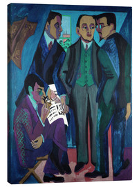 Lærredsbillede  An Artists' Community (The Painters of Die Bruecke) - Ernst Ludwig Kirchner