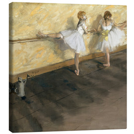 Lærredsbillede  Dancers at the ballet bar - Edgar Degas