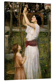 Print på aluminium  Gathering Almond Blossoms - John William Waterhouse
