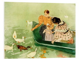 Print på skumplade  Feeding the Ducks - Mary Stevenson Cassatt