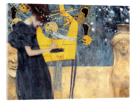 Akrylbillede  The Music - Gustav Klimt