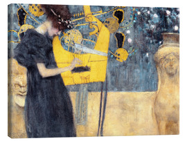 Lærredsbillede  The Music - Gustav Klimt