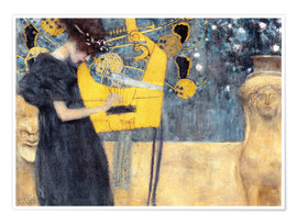 Premium-plakat  The Music - Gustav Klimt
