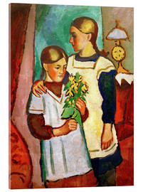 Akrylbillede  Two Sisters - August Macke