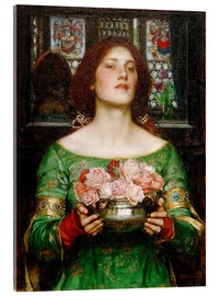 Akrylbillede  Gather Ye Rosebuds While Ye May - John William Waterhouse