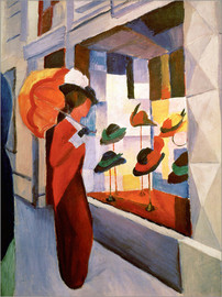 Akrylbillede  The Hat Shop - August Macke