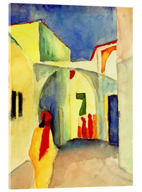 Akrylbillede  A Glance down an Alley in Tunis - August Macke