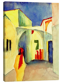 Lærredsbillede  A Glance down an Alley in Tunis - August Macke