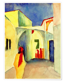 Premium-plakat  A Glance down an Alley in Tunis - August Macke