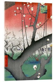 Akrylbillede  The Plum Tree Teahouse at Kameido - Utagawa Hiroshige