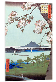 Print på skumplade  Masaki and the Suijin Grove by the Sumida River - Utagawa Hiroshige