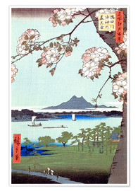 Premium-plakat Masaki and the Suijin Grove by the Sumida River