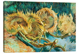Lærredsbillede  Four Cut Sunflowers - Vincent van Gogh