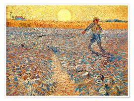 Premium-plakat The Sower (Sower at Sunset)