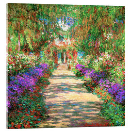 Akrylbillede  A pathway in Monet's Garden at Giverny - Claude Monet