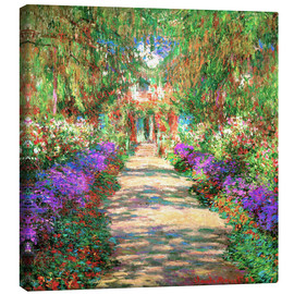 Lærredsbillede  A pathway in Monet's Garden at Giverny - Claude Monet