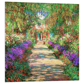 Print på skumplade  A pathway in Monet's Garden at Giverny - Claude Monet