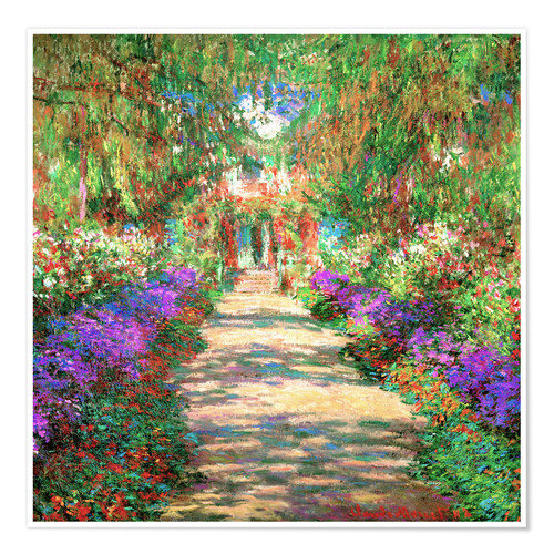 Premium-plakat A pathway in Monet's Garden at Giverny