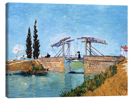 Lærredsbillede  The Langlois Bridge at Arles - Vincent van Gogh