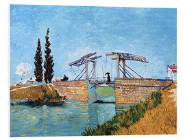 Print på skumplade  The Langlois Bridge at Arles - Vincent van Gogh
