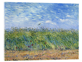 Akrylbillede  Wheat Field with a Lark - Vincent van Gogh