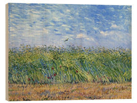 Print på træ  Wheat Field with a Lark - Vincent van Gogh