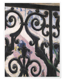 Premium-plakat  View through balcony grill - Gustave Caillebotte