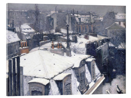 Akrylbillede  Roofs in the snow - Gustave Caillebotte