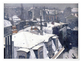 Premium-plakat  Tage i sneen - Gustave Caillebotte