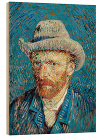 Print på træ  Vincent van Gogh with Grey Hat - Vincent van Gogh