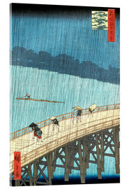 Akrylbillede  Sudden Shower over Shin-Ohashi bridge and Atake - Utagawa Hiroshige