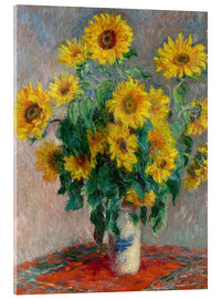 Akrylbillede  Bouquet of Sunflowers - Claude Monet