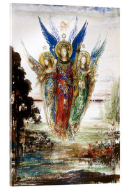 Akrylbillede  Job and the Angels - Gustave Moreau