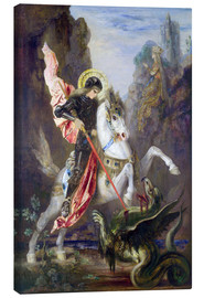 Lærredsbillede  St. George and the Dragon - Gustave Moreau