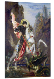 Print på skumplade  St. George and the Dragon - Gustave Moreau