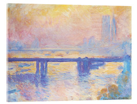 Akrylbillede  Charing Cross Bridge - Claude Monet