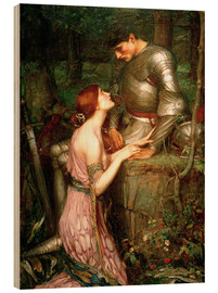 Print på træ  Lamia - John William Waterhouse