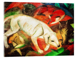 Akrylbillede  Three animals (dog, fox and cat) - Franz Marc