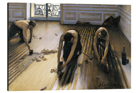 Print på aluminium  The Floor Planers - Gustave Caillebotte