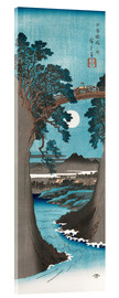 Akrylbillede  Moon Over the Monkey Bridge in Kai Province - Utagawa Hiroshige