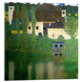 Akrylbillede  Castle chamber on the Attersee I - Gustav Klimt