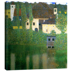 Lærredsbillede  Castle chamber on the Attersee I - Gustav Klimt